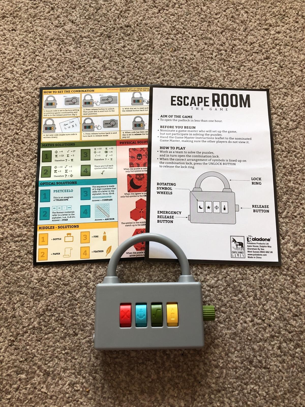 Escape Room game  Solve puzzles and codes in TS25 Fens for