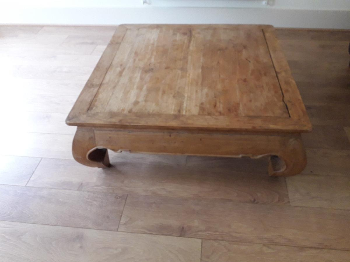 Solid Wood Low Level Coffee Table In