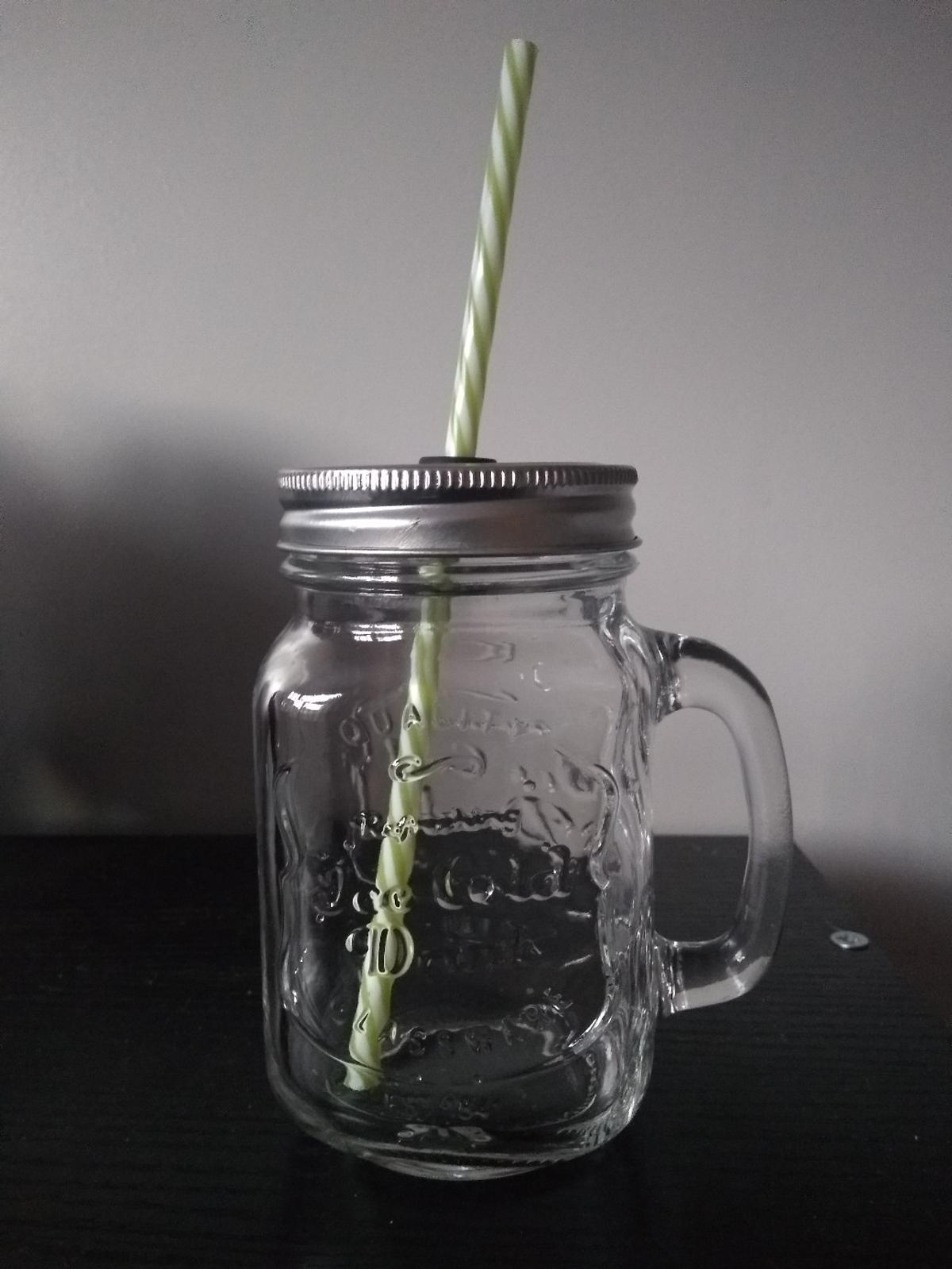 6 'Old Times' Mason jars with lids