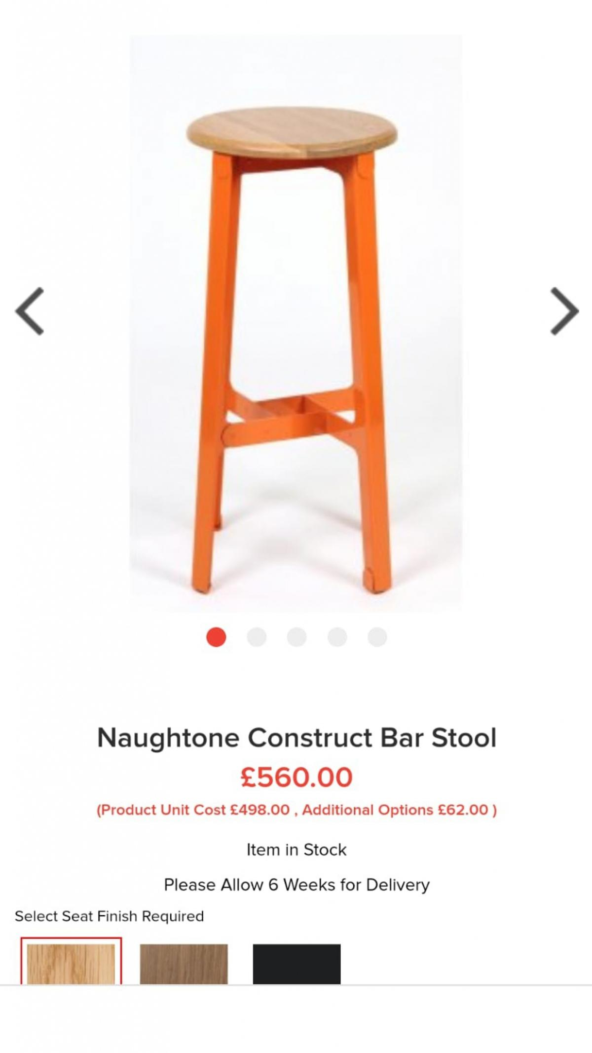 Stupendous 2 X Naughtone Construct Bar Stools Rrp 560 Caraccident5 Cool Chair Designs And Ideas Caraccident5Info