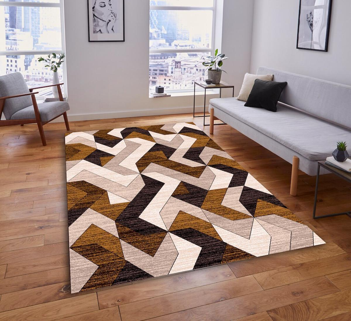 Modern living room rugs soft quality red in London für £ 49 ...
