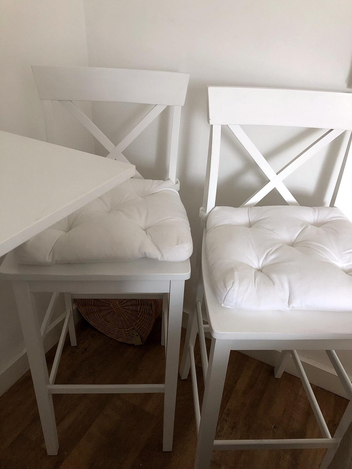 official photos 85139 c6391 White Wooden Breakfast Chairs Stools Argos