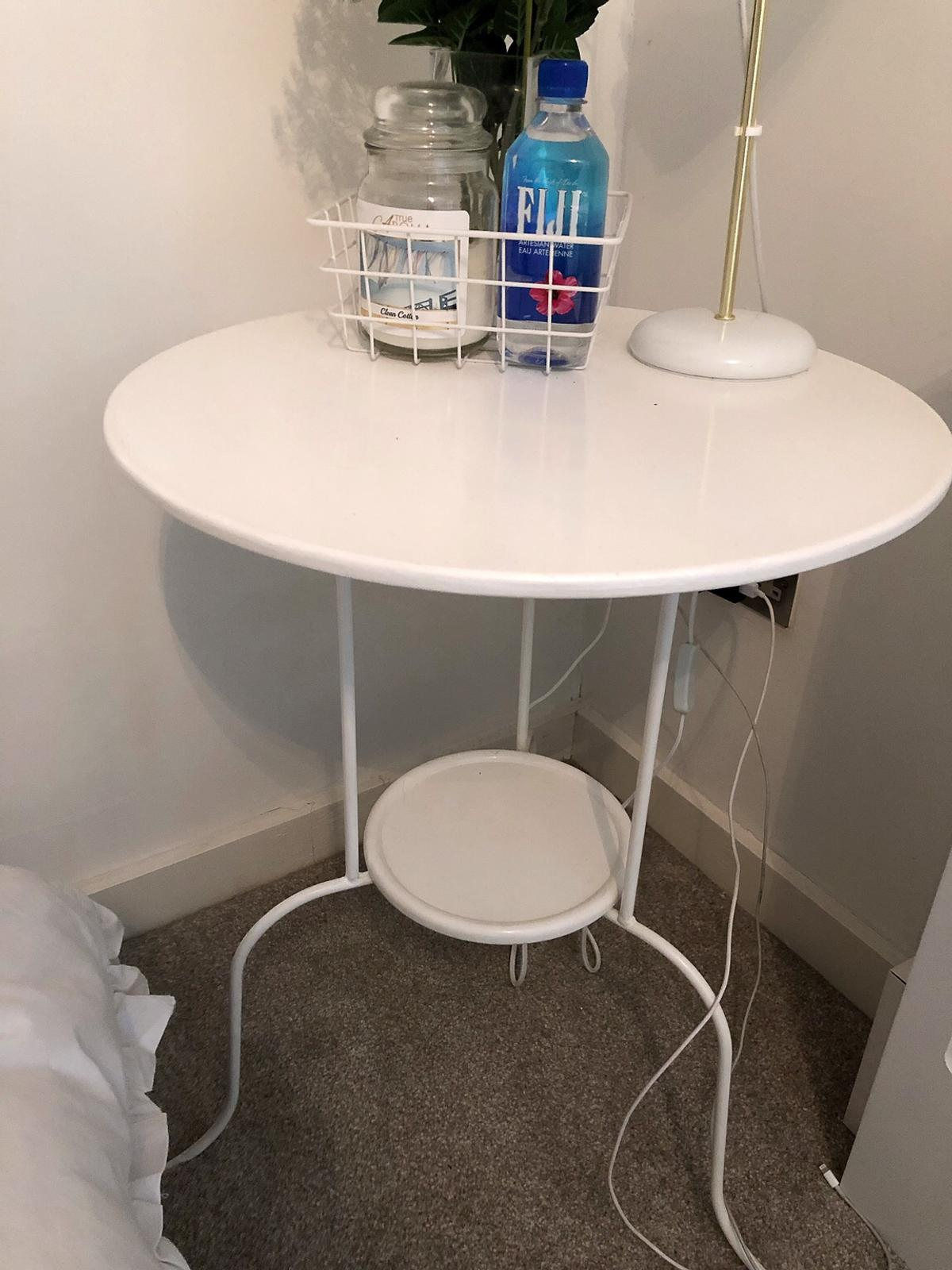 Picture of: White Metal Bedside Table Ikea Coffee Table In Le2 Leicester For 10 00 For Sale Shpock
