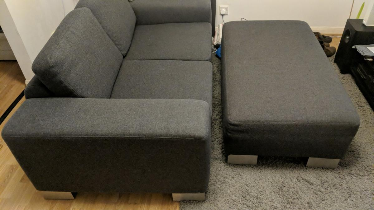 2 Seater Sofa And Foot Rest In Ig6