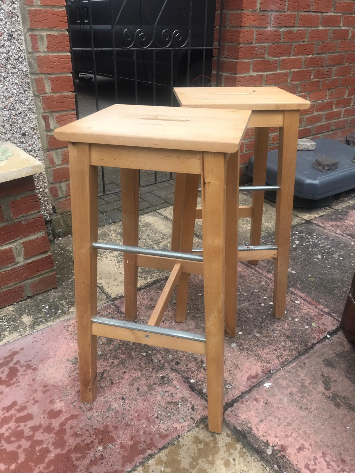 Stupendous Solid Pine Breakfast Bar Stools X 2 In Ts26 Hartlepool For Evergreenethics Interior Chair Design Evergreenethicsorg