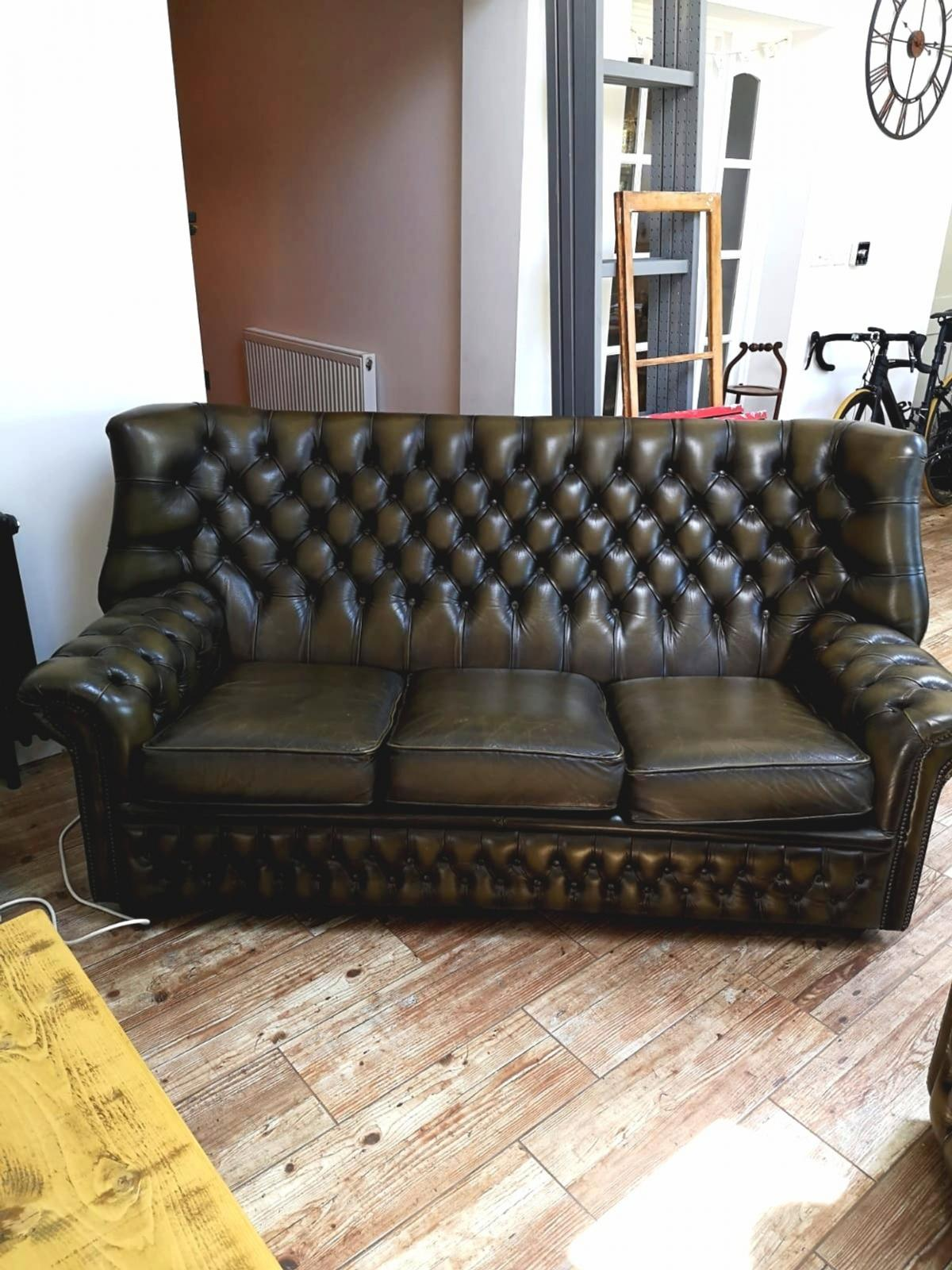 - Chesterfield Bottle Green Sofa And Chair In NN14 Wellingborough