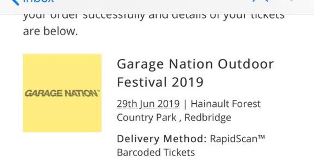 2 X Garage Nation Tickets With Afterparty In B32 Birmingham For