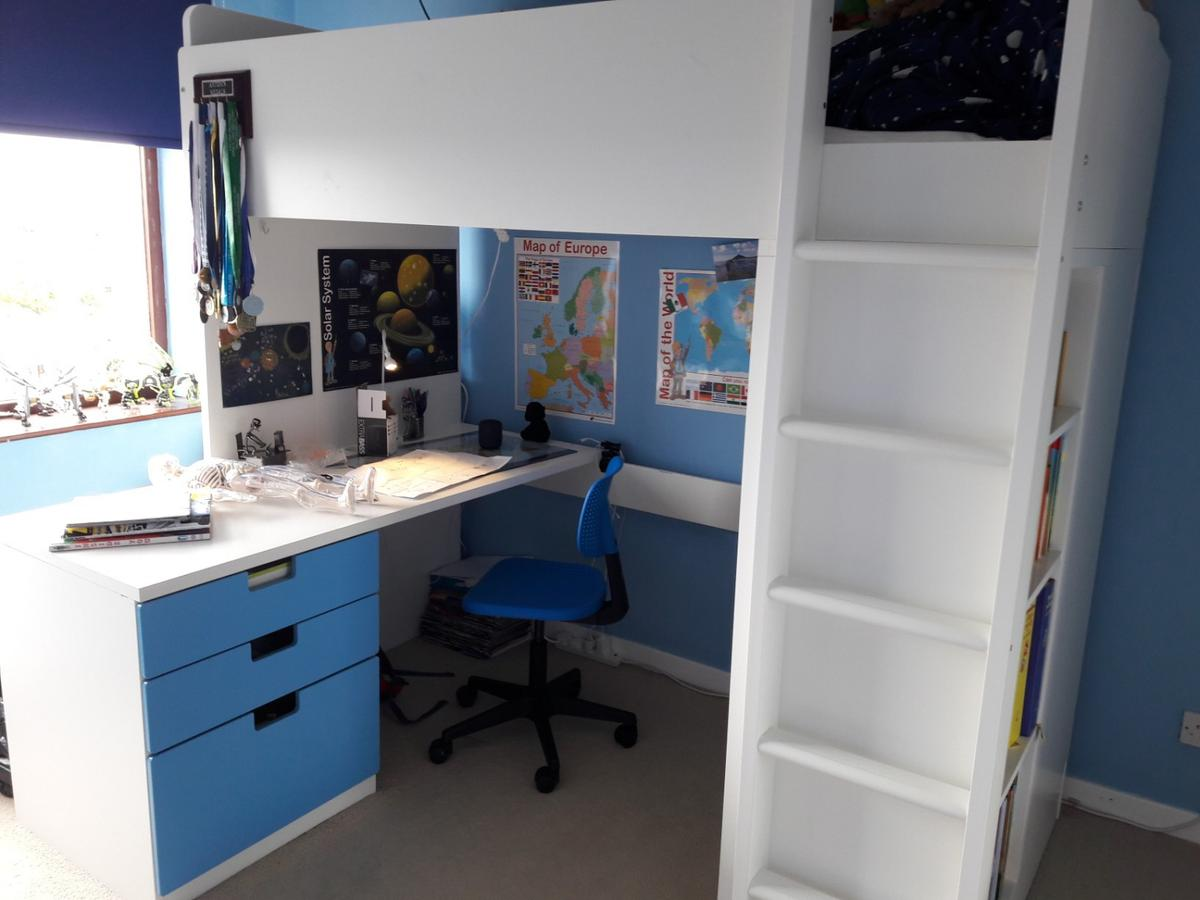 Wondrous Ikea Stuva Loft Bed With Desk And Chair In De22 Derby For Bralicious Painted Fabric Chair Ideas Braliciousco
