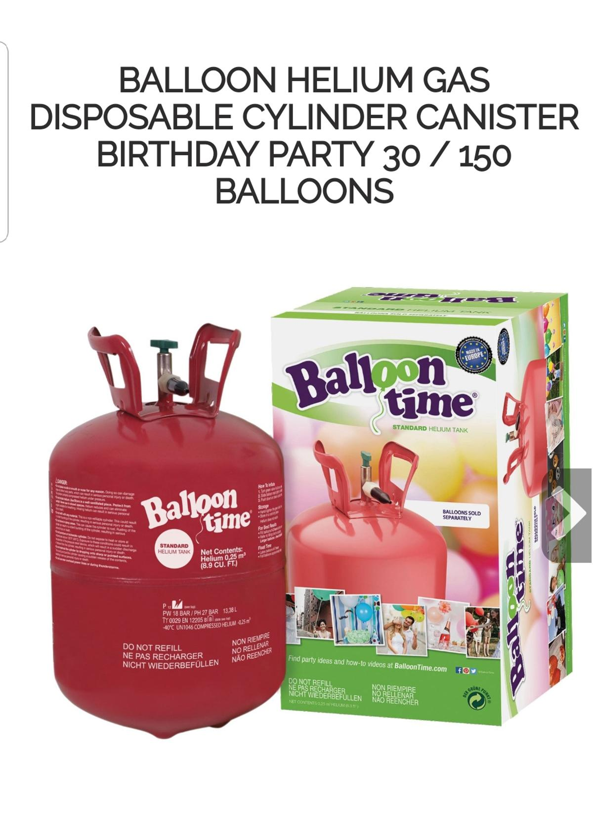 disposable helium gas tank for balloons