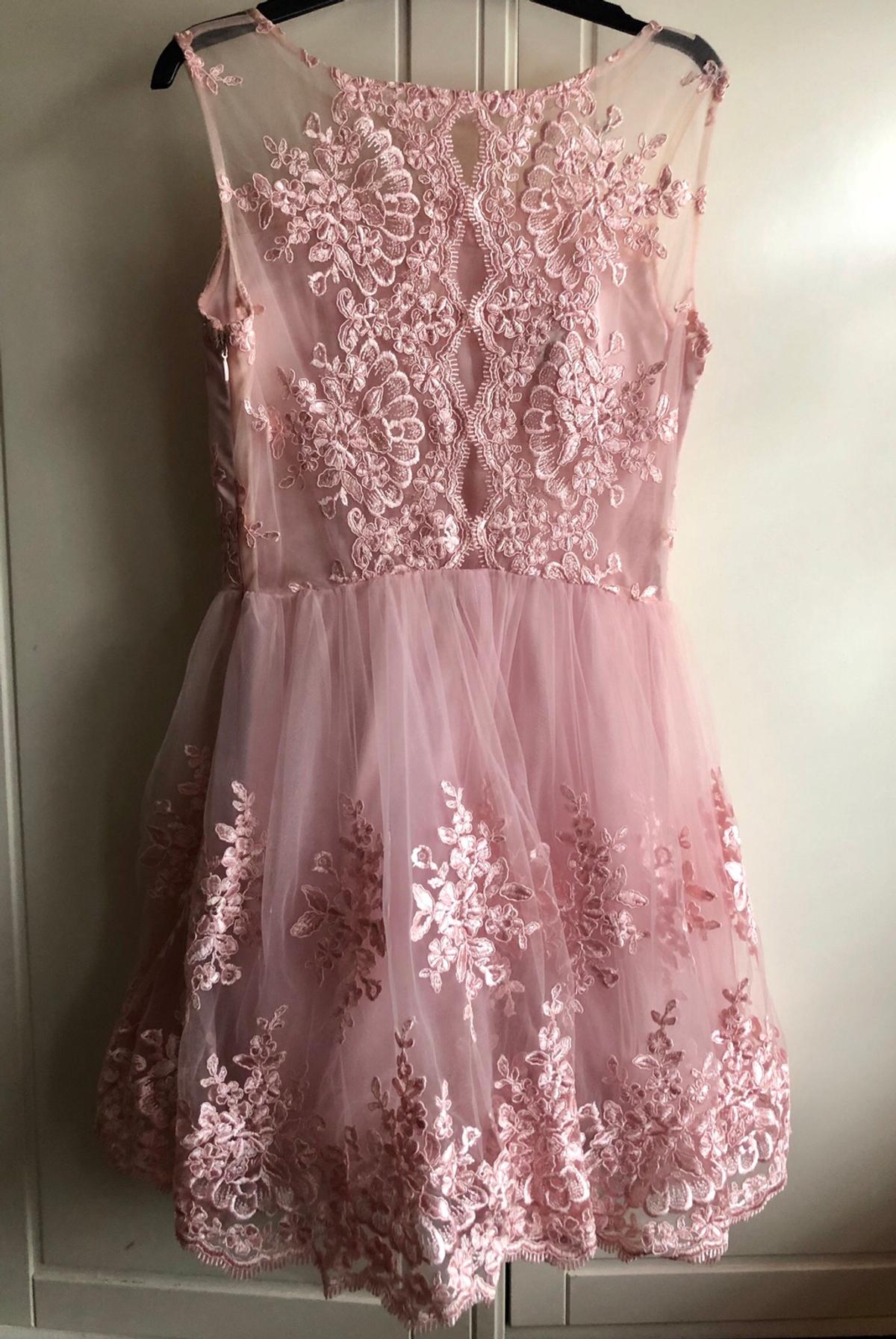 Rose Pink Lace Dress Wedding Guest Prom