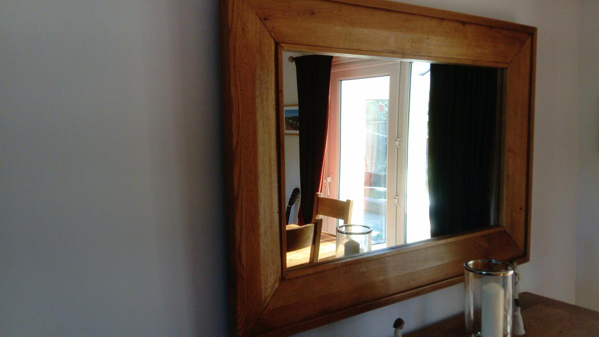 Large Solid Oak living room mirror