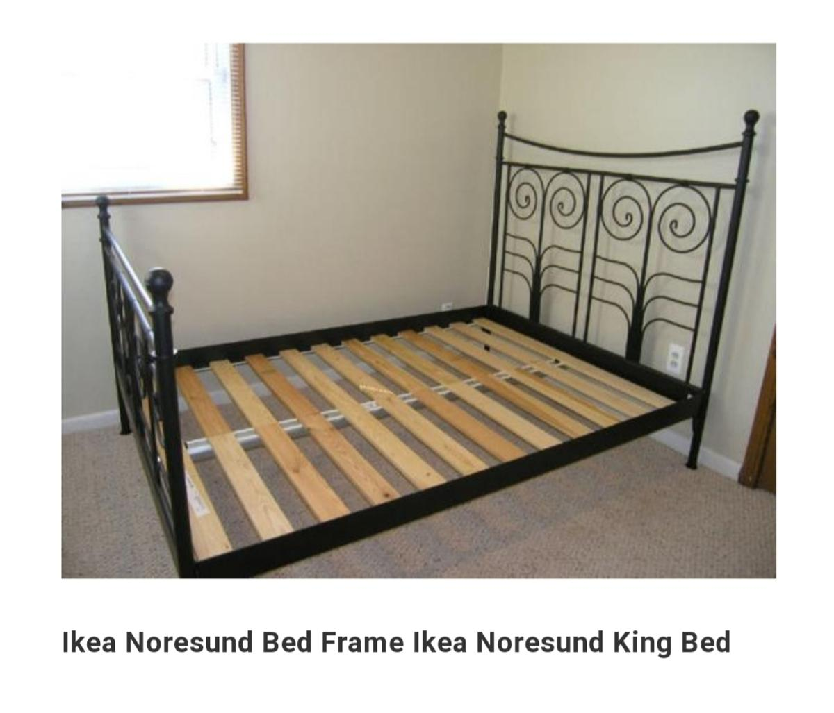 Ikea King Size Noresund Bedframe In Ss9 Sea For 75 00 For Sale Shpock
