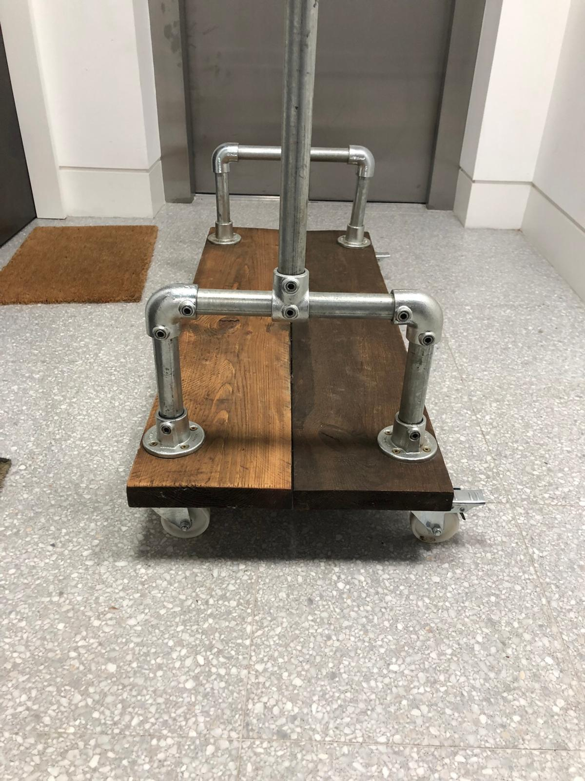 Industrial Clothes Rail Shoe Rack On Wheels