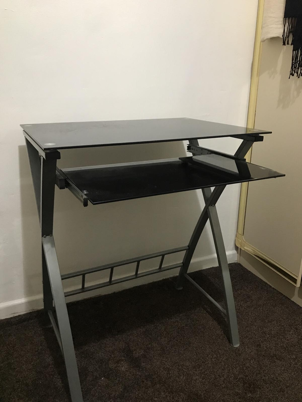 Small Black Glass Computer Desk In S65 Rotherham For 10 00 For Sale Shpock
