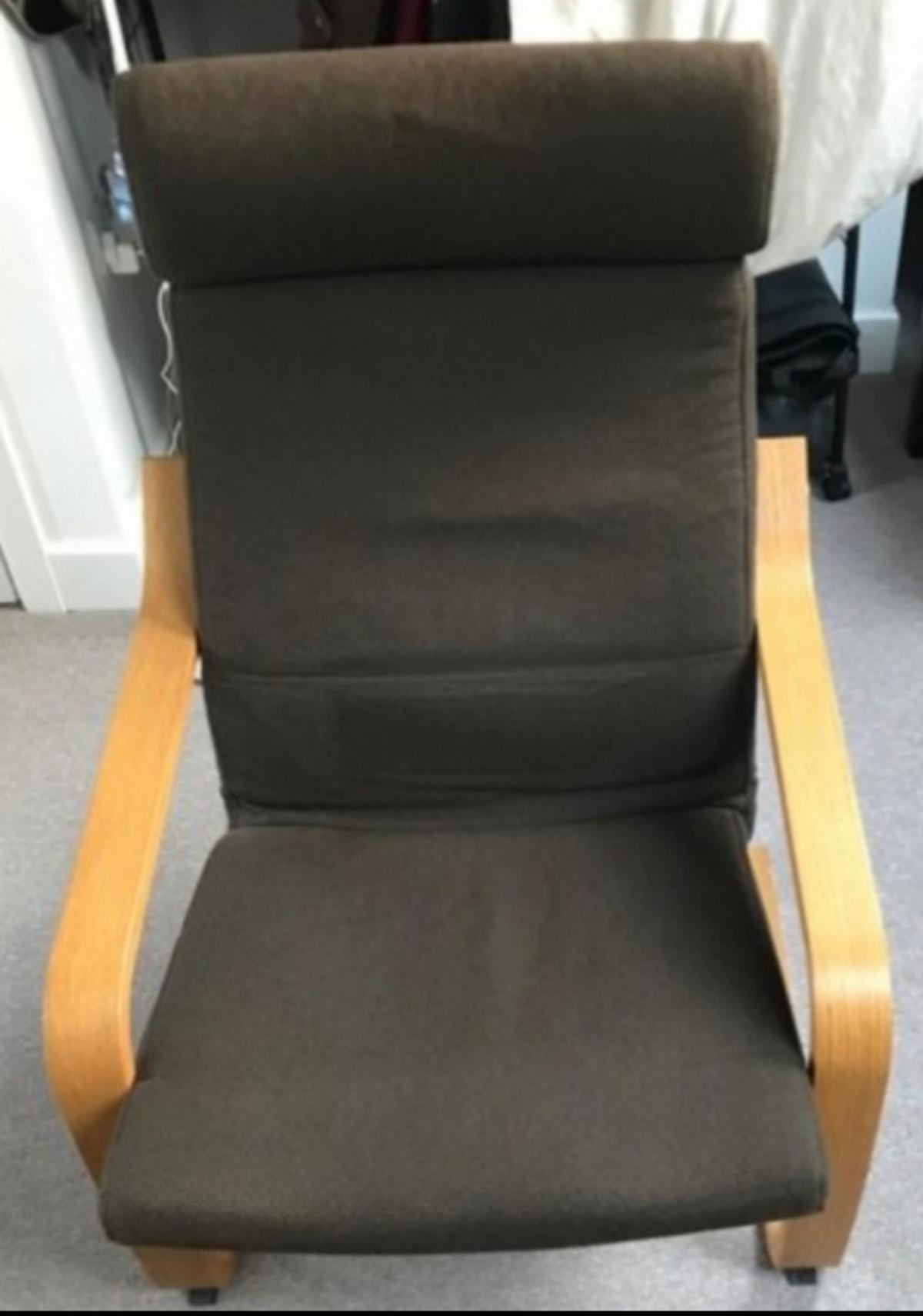 Amazing Ikea Poang Chair And Foot Stool Grey Ibusinesslaw Wood Chair Design Ideas Ibusinesslaworg