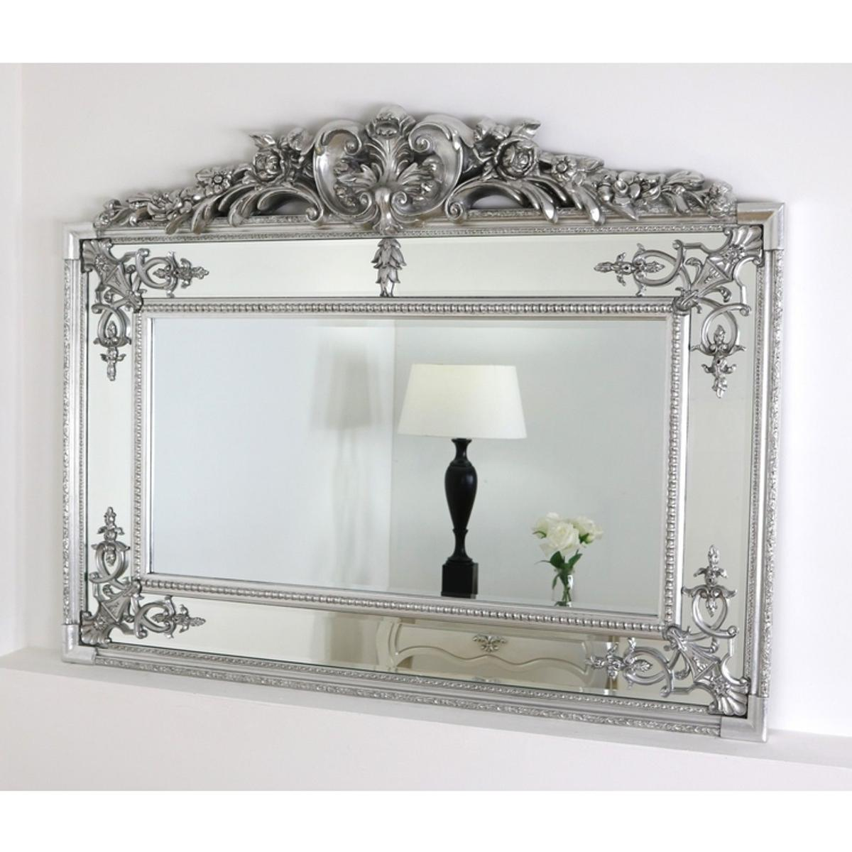 Beautiful Large Silver Ornate Wall Mirror In St7 Lyme For 165 00 For Sale Shpock