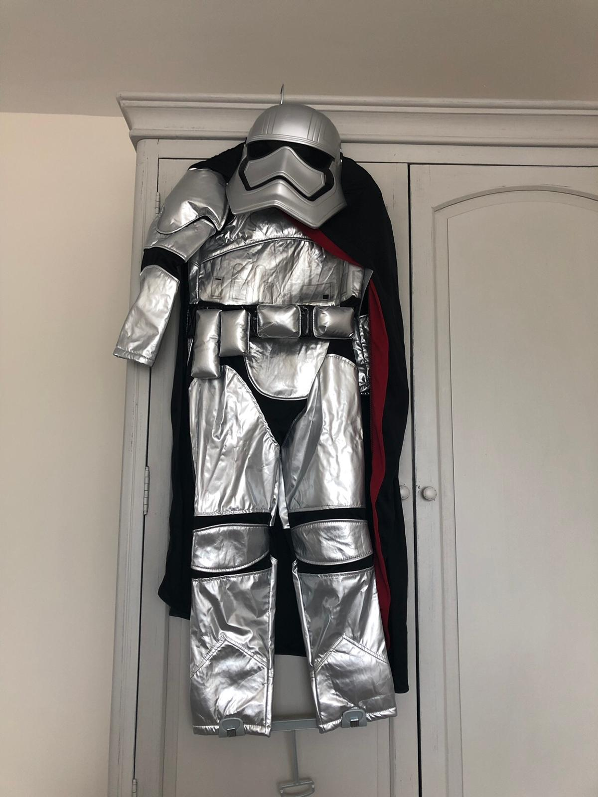 Disney Store Star Wars Captain Phasma Storm Trooper Outfit Costume Age 7-8