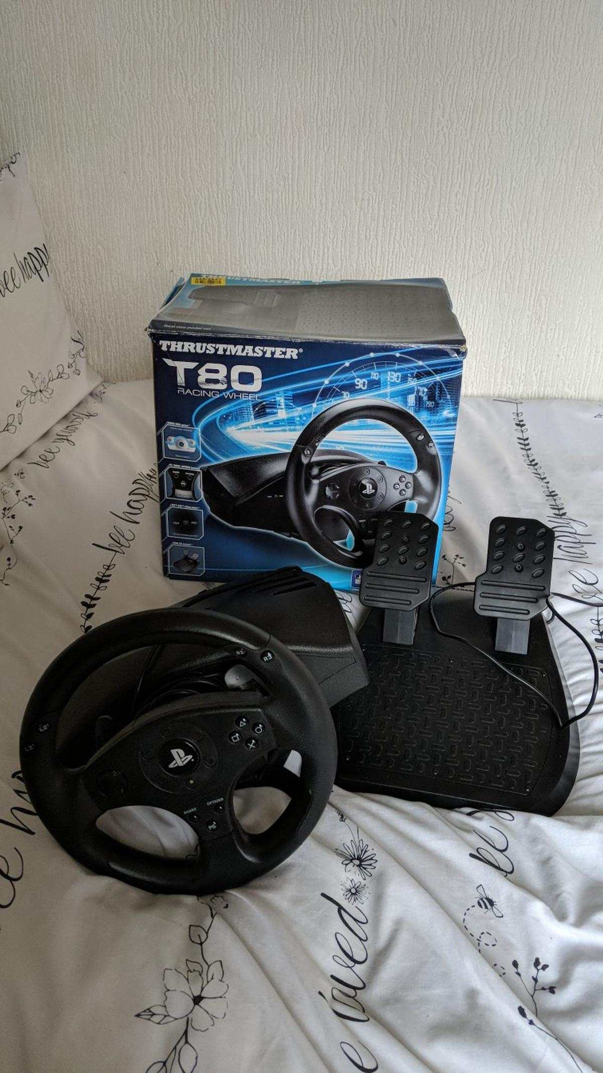 thrustmaster t80 racing wheel for PS3/ps4 in BL3 Bolton for