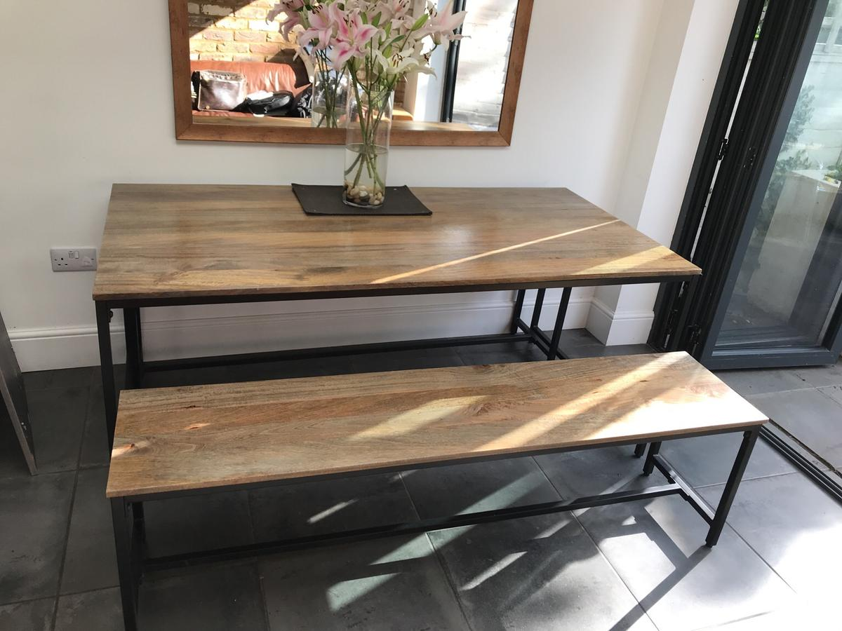 Magnificent Lomond Industrial Dining Table And 2 Benches In Al3 Albans Pdpeps Interior Chair Design Pdpepsorg