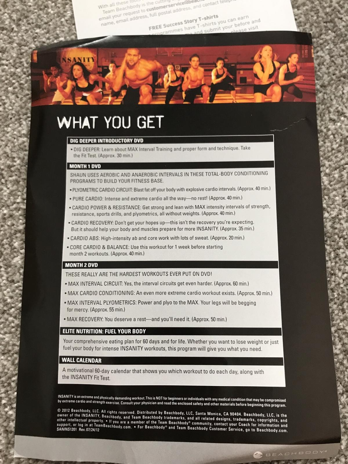 Insanity Fitness 60 Day Total Body in DE12 Leicestershire for £20 00