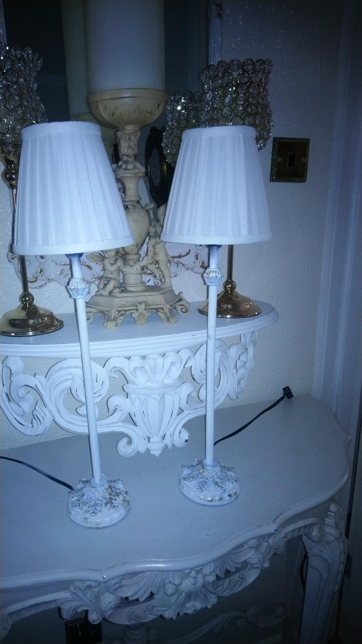 Pair Of Bedside Shabby Chic Lamps In B37 Solihull For 18 00 For Sale Shpock