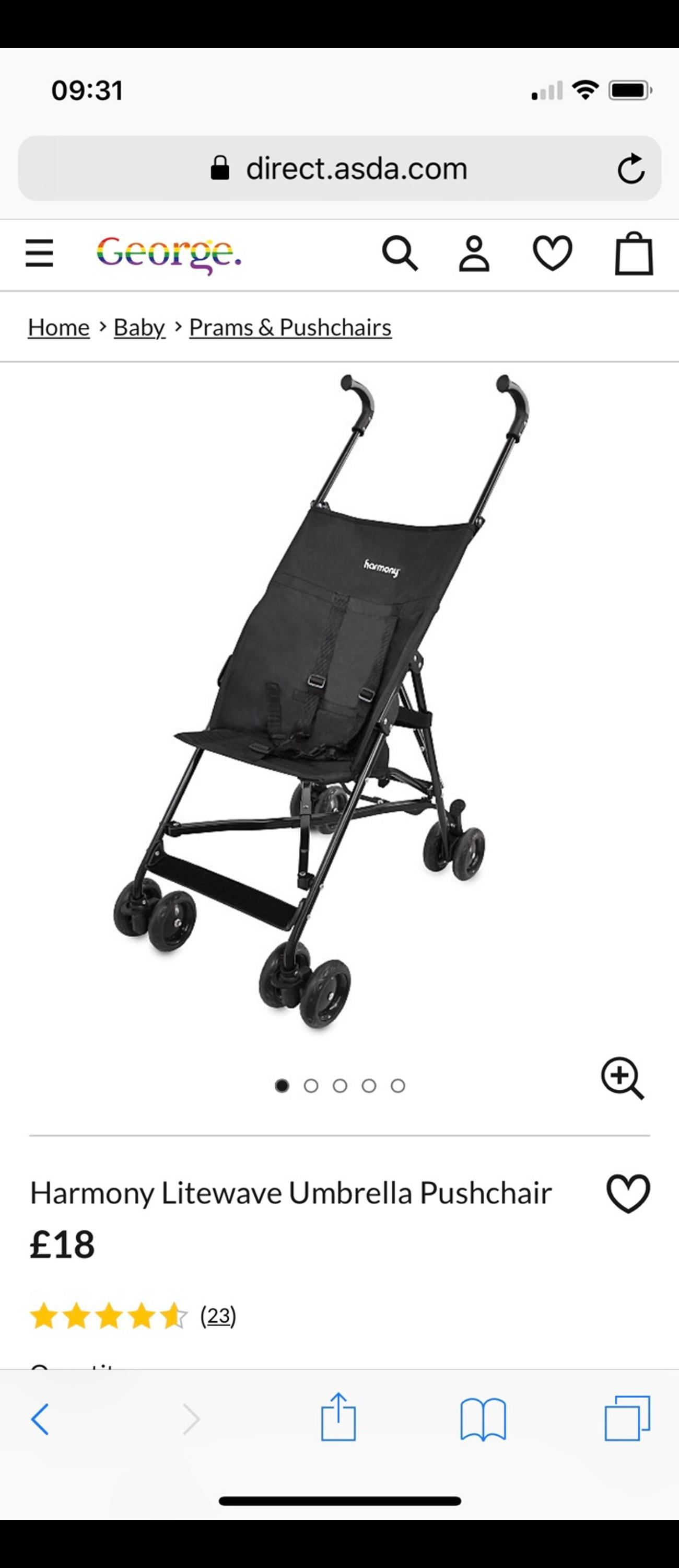 Basic Harmony Lite Wave Stroller In Co2 Colchester For 10 00 For