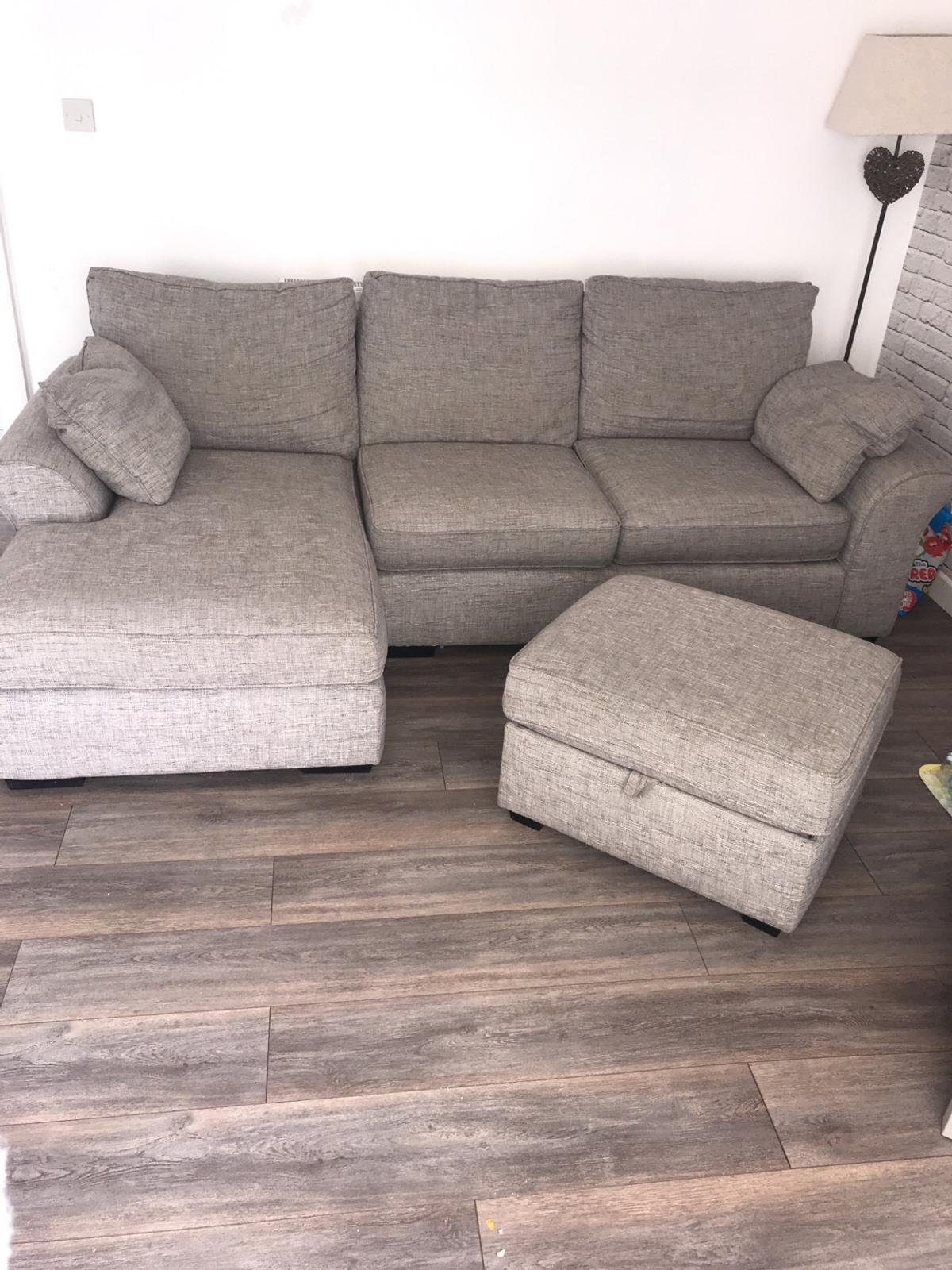Next Corner Sofa With Storage Pouffe In B29 Birmingham For £250.00 For Sale   Shpock