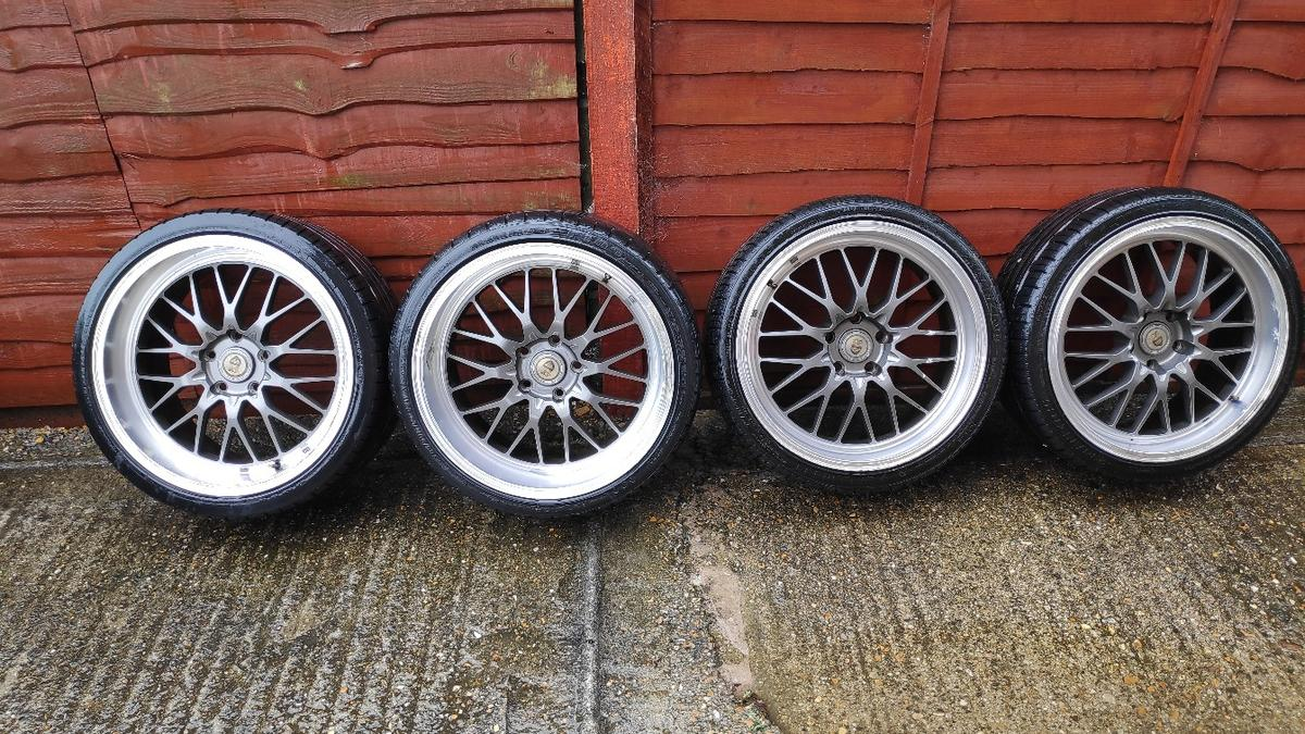 Bmw E46 19 Cades Tyrus Deep Dish Alloys In Mk41 Ravensden For 450 00 For Sale Shpock