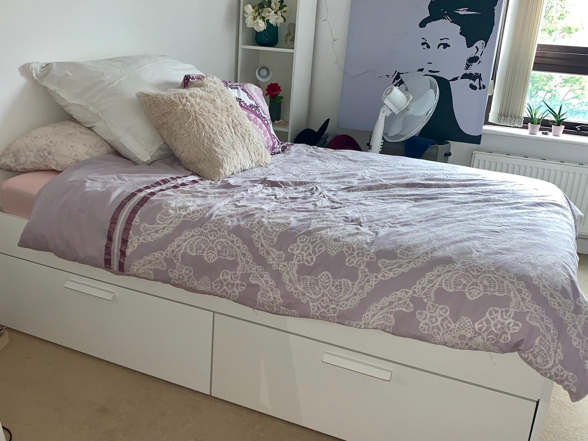 the latest b087e 62c54 Brimnes bed frame and mattress