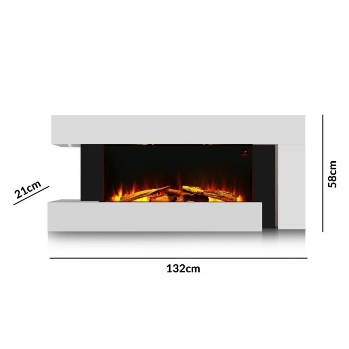White Electric Wall Mounted Fireplace Suite In Hd2 Huddersfield