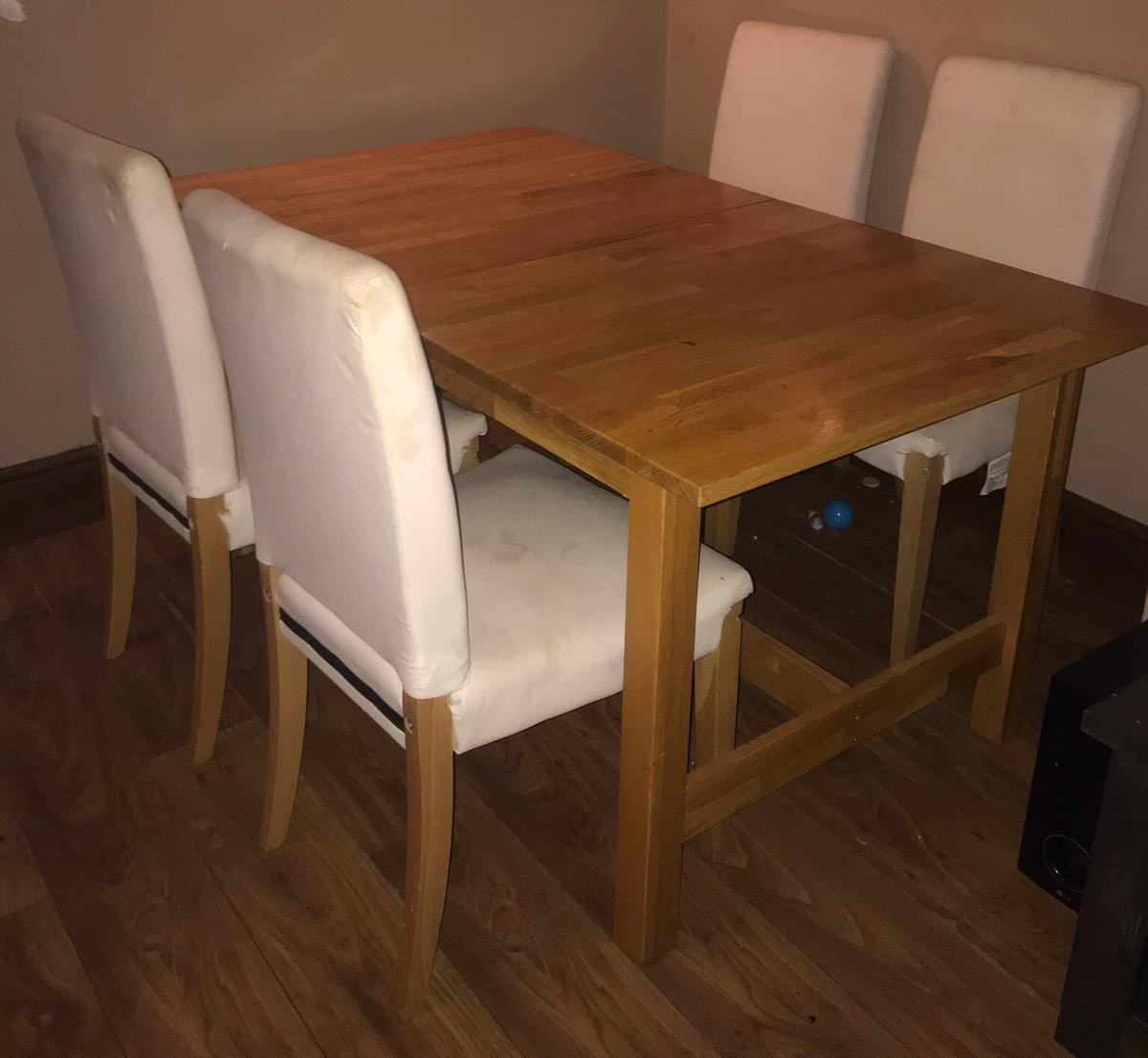 Ikea Pine 4 Piece Dining Table Chairs In Pr25 Ribble For