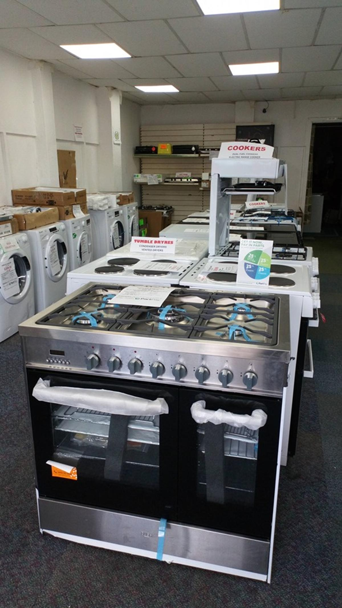 90cm dual fuel cooker stainless Steel in NE6 Tyne for
