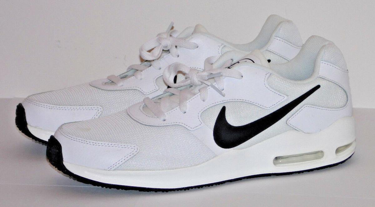NIKE AIR MAX GUILE SN83 WHITE BLACK TRAINERS