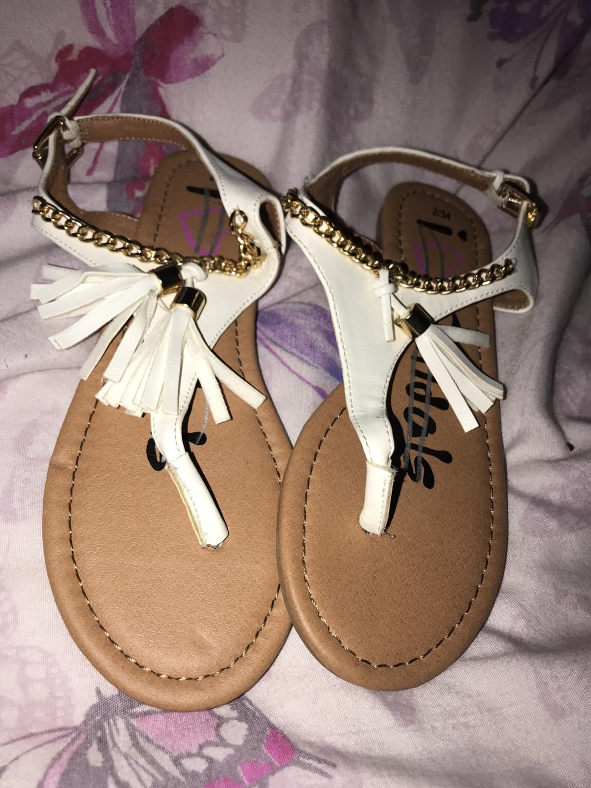 girls sandals size 1 New With Tags Matalan White