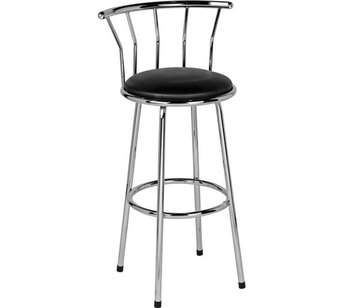 Fine New Leather Effect Bar Stool Black In Bb2 Blackburn For Machost Co Dining Chair Design Ideas Machostcouk