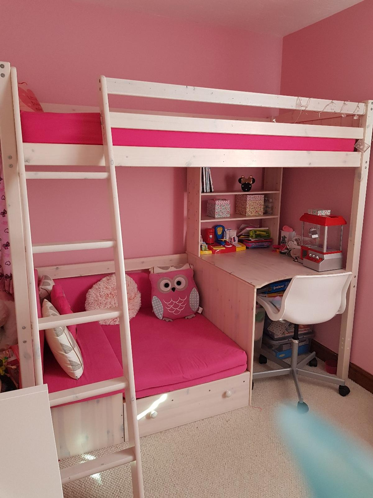 S High Sleeper With Sofa Bed And Desk