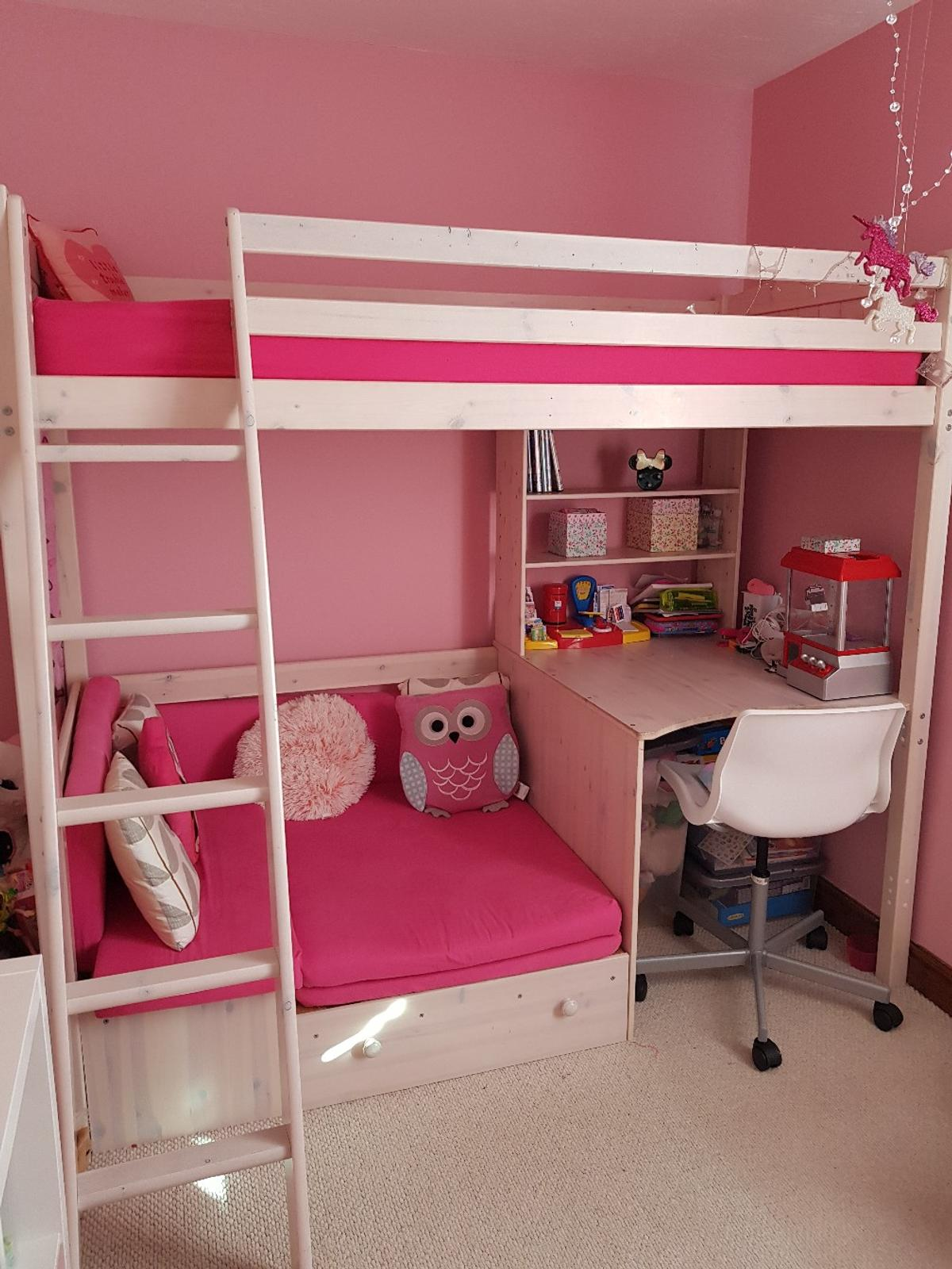 Astounding Girls High Sleeper With Sofa Bed And Desk Gamerscity Chair Design For Home Gamerscityorg
