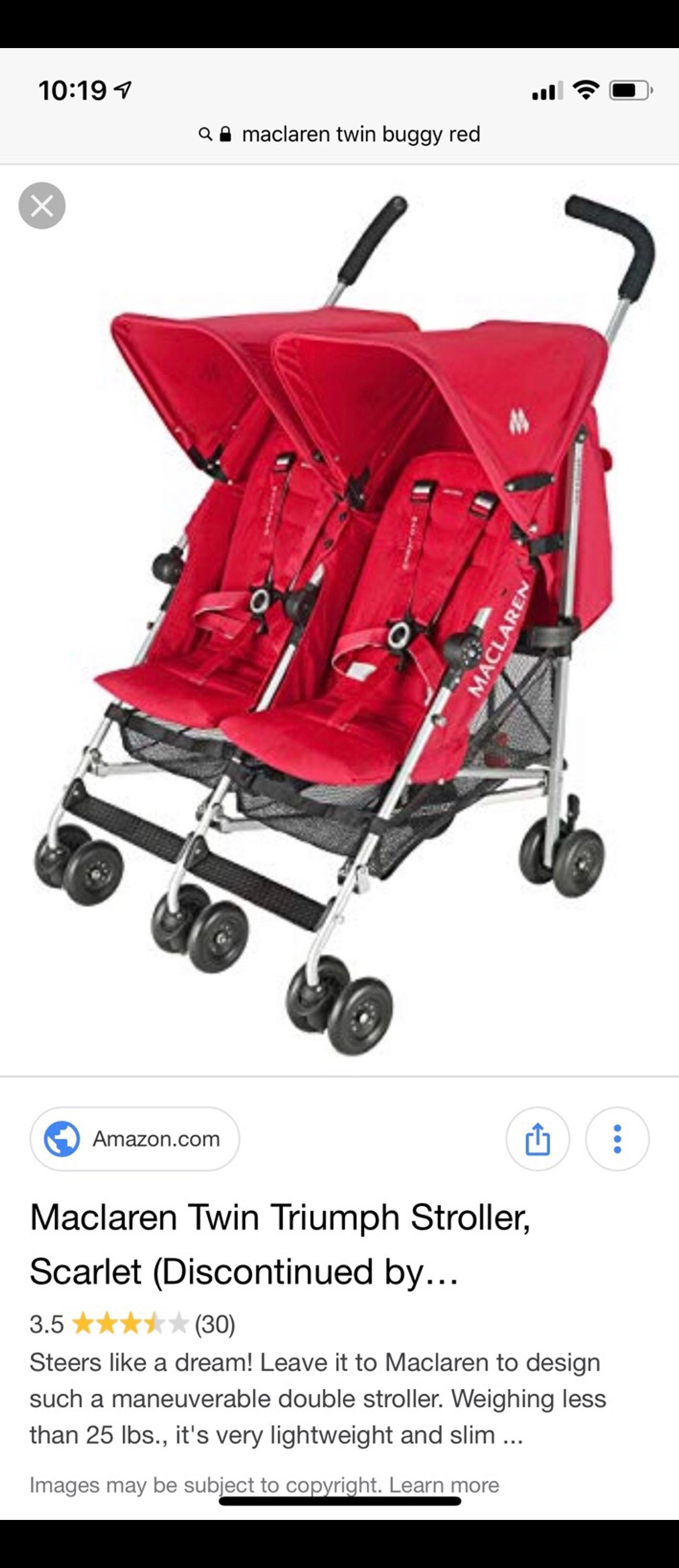 Maclaren Twin Triump Stroller Buggy In E1 London Borough Of Tower
