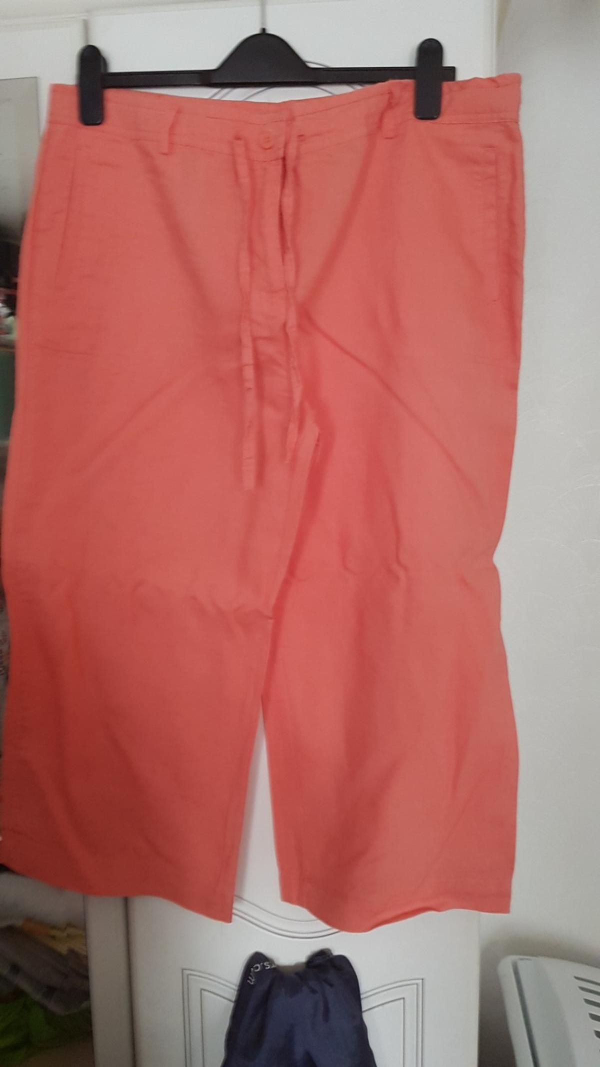 save off promo code lace up in ladies linen crop trousers size 16