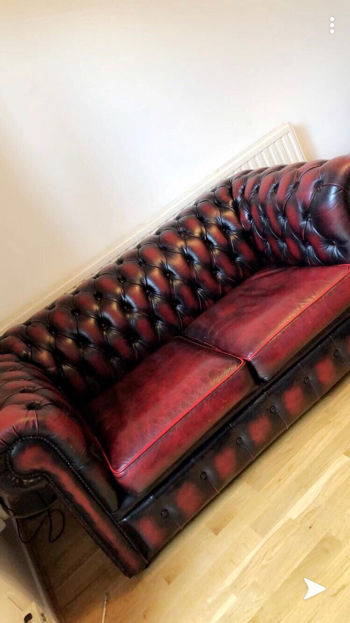 Brilliant Vintage Leather Second Hand Chesterfield Sofa In W11 Chelsea Forskolin Free Trial Chair Design Images Forskolin Free Trialorg