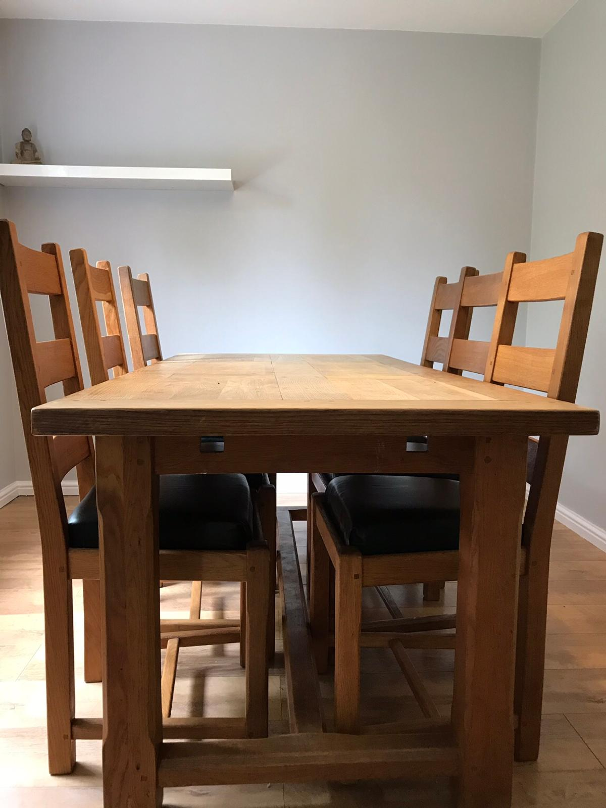 Phenomenal Oak Dining Room Table And Chairs In Nn10 Northamptonshire Ncnpc Chair Design For Home Ncnpcorg