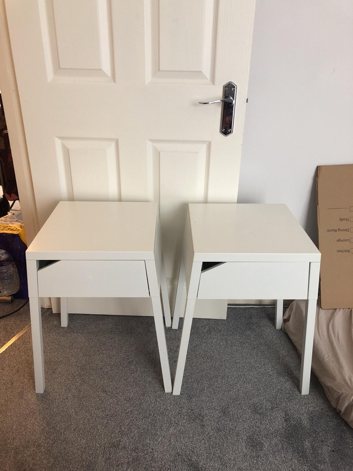 Picture of: Ikea Selje Bedside Table White Metal In Nw10 London Borough Of Brent For 23 00 For Sale Shpock