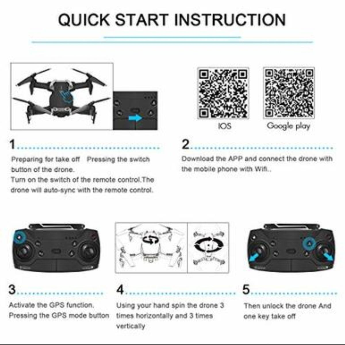 Holy Stone HS110D FPV RC Drone with HD Camera in 67213 Wichita for