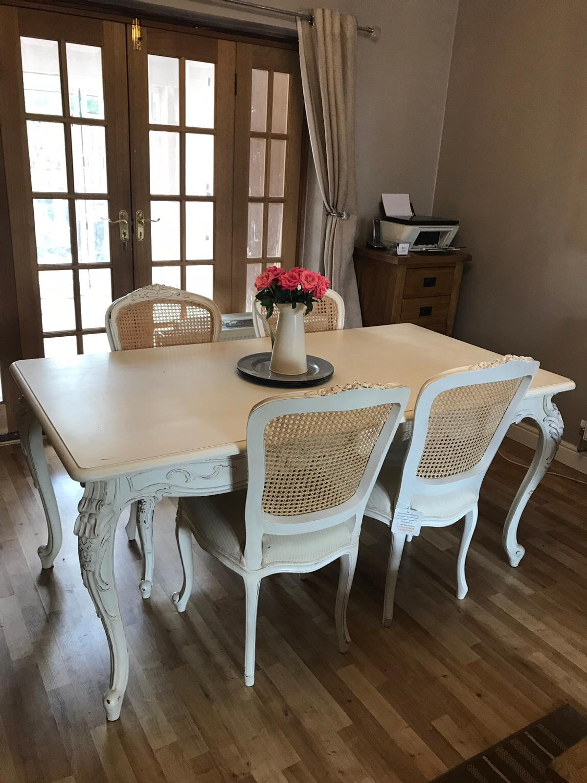 coach house shabby chic dining table 6 chairs in london