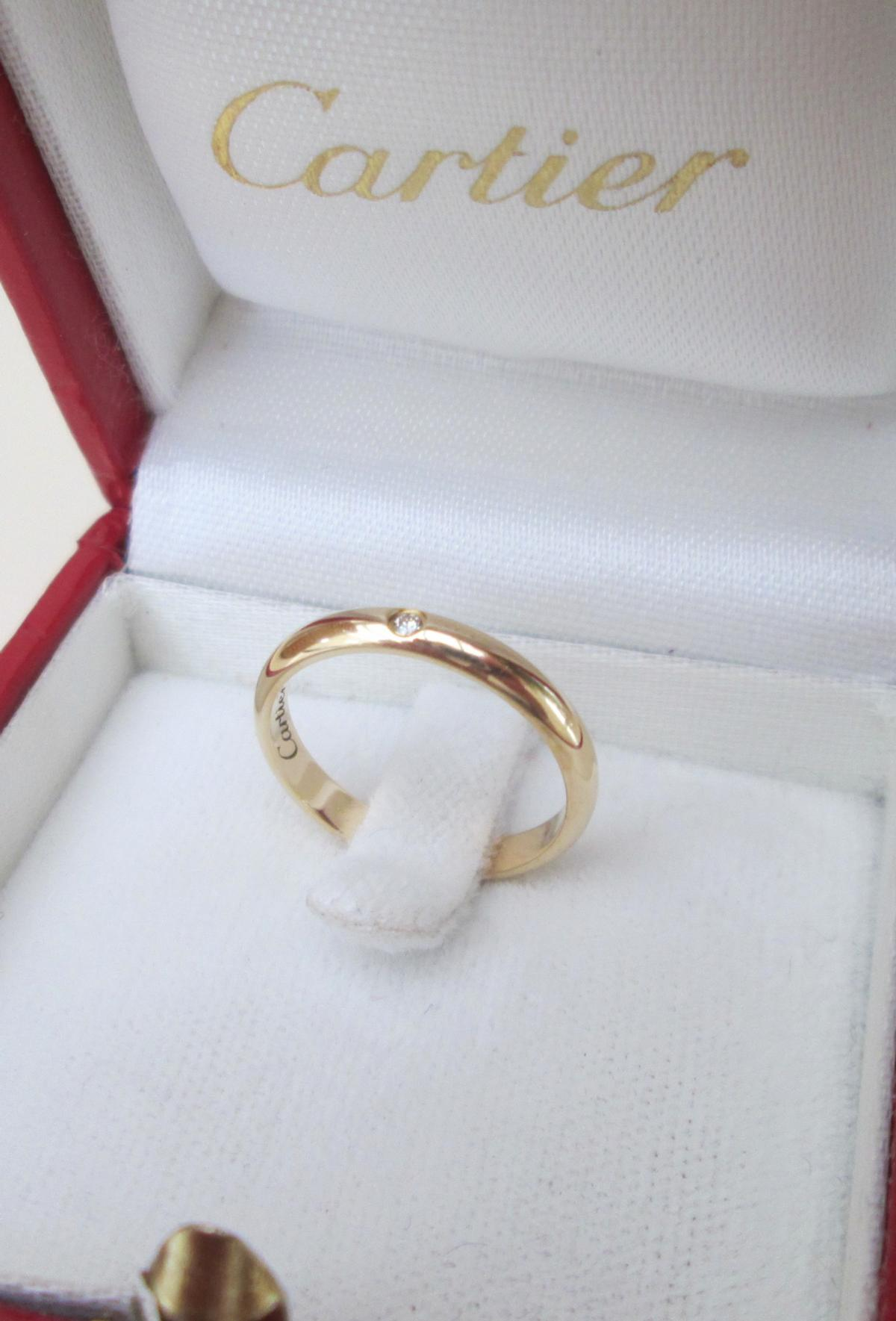 Cartier 18ct Yellow Gold Diamond Band Ring In Broughton Fur 580 00