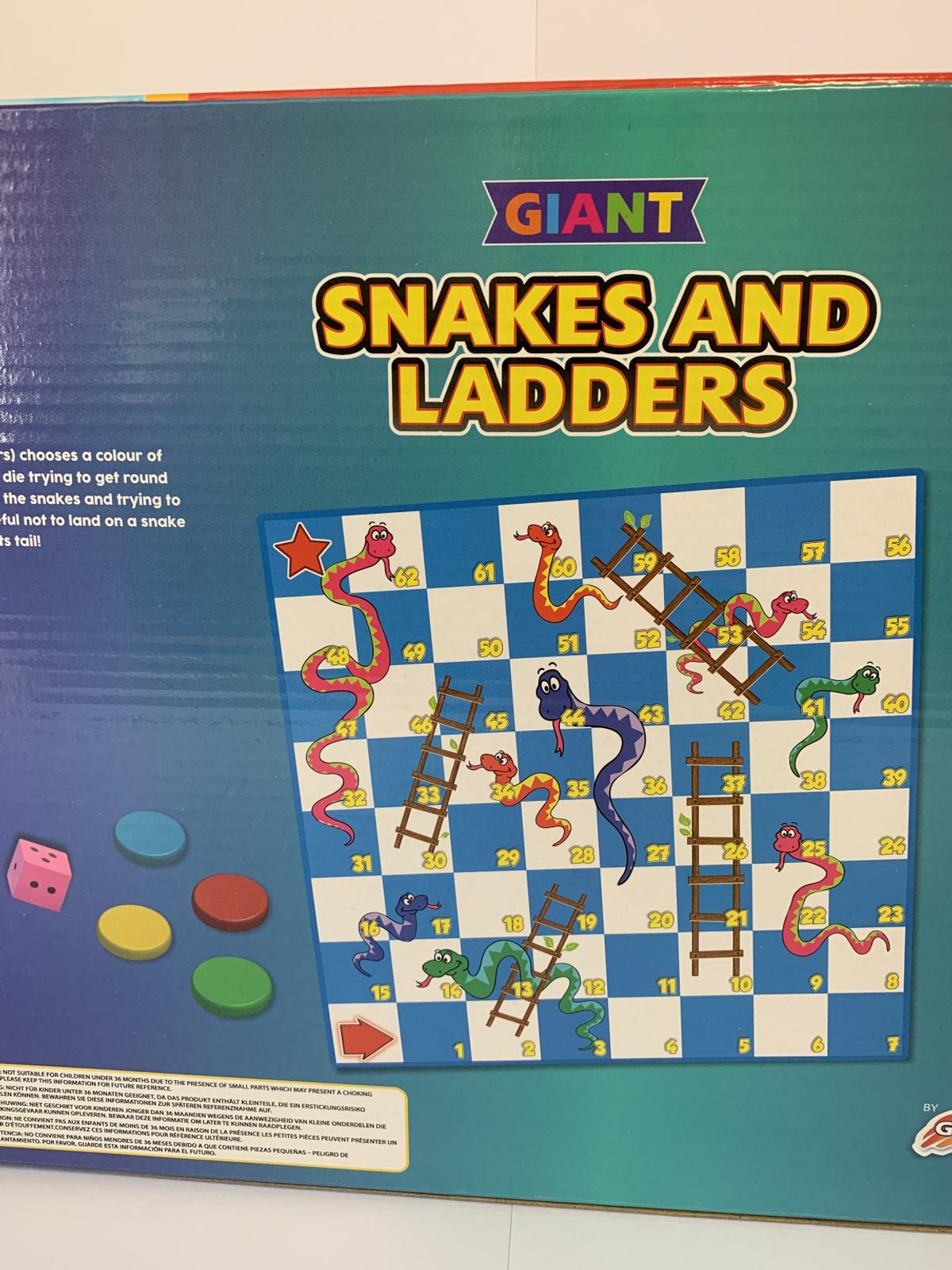 Giant Snakes And Ladders Game Set