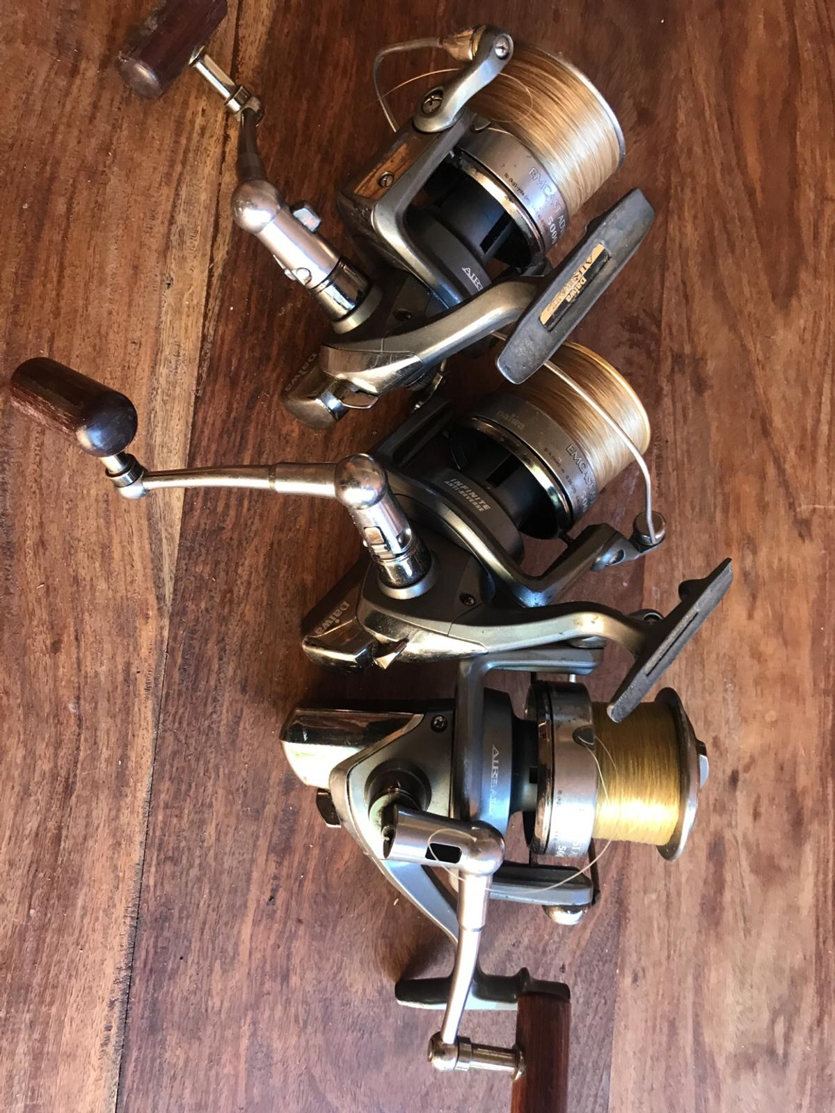 Three diawa reels carp fishing