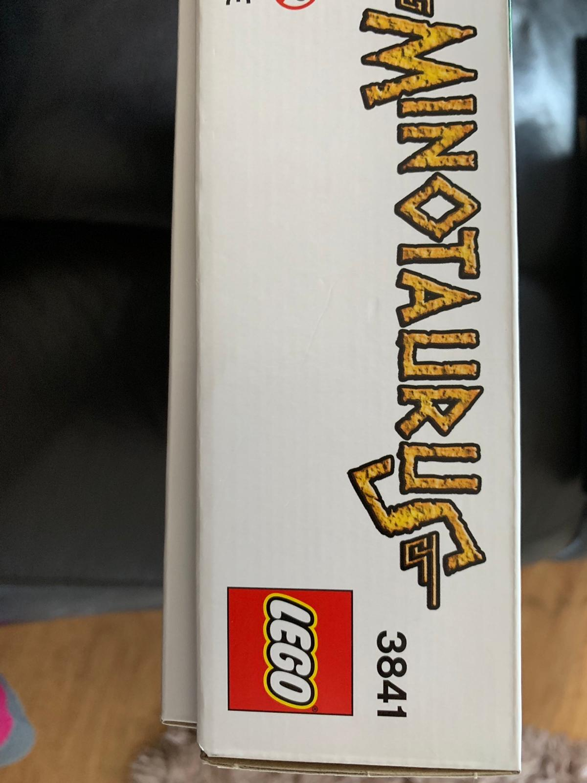 Lego minotaurus reference 3841 board game with all pieces and instructions attached. Suitable for 7+ ages In very good condition and new would cost £29.99 Would accept £15 collect If posted then please add £5 p&p
