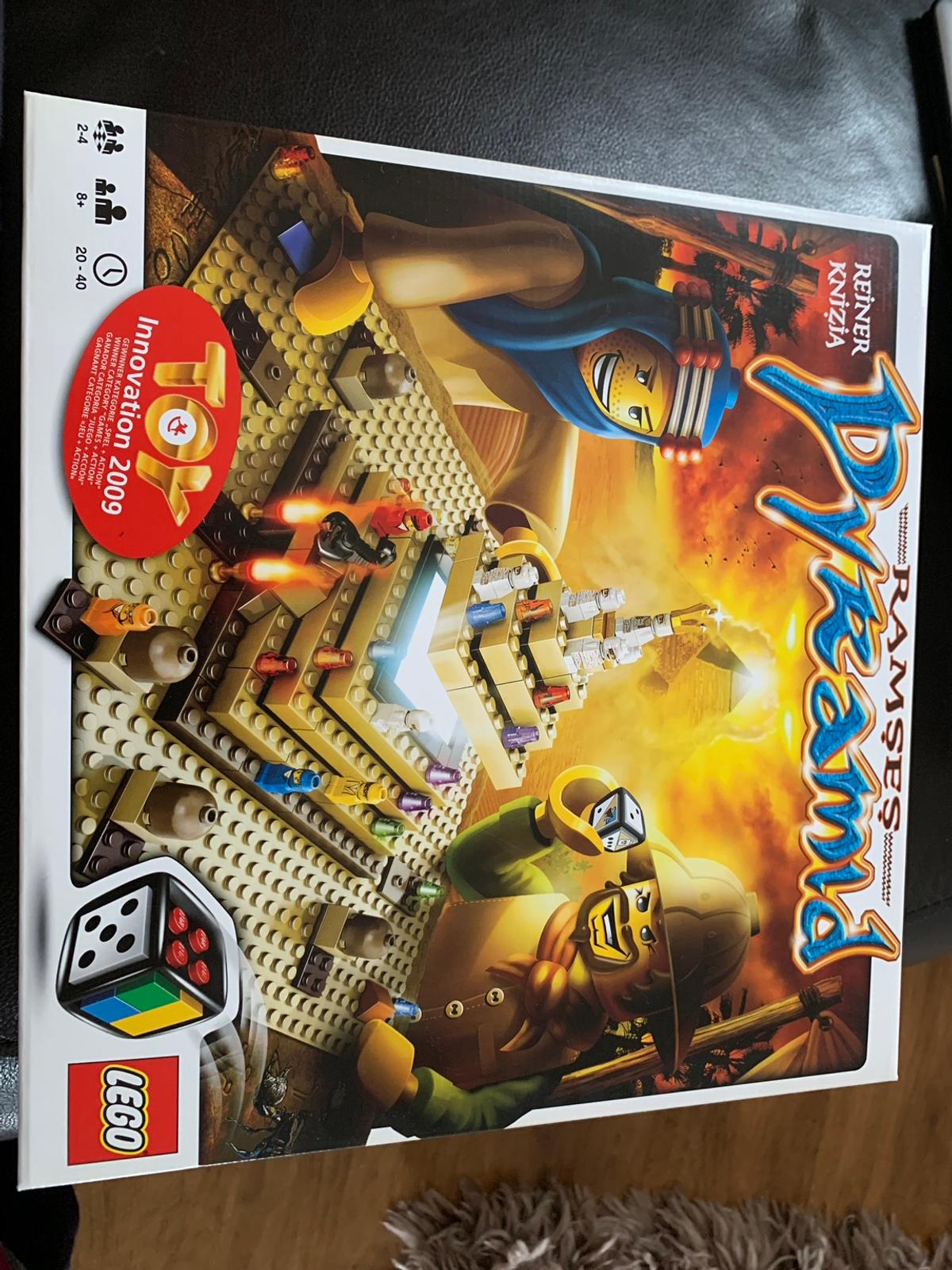 Lego Ramses pyramid board game reference 3843 and suitable for 2-4 players The instructions and all parts and players are available with mint condition New would cost on amazon £66.99 happy to sell for £25 collect If posted add £5