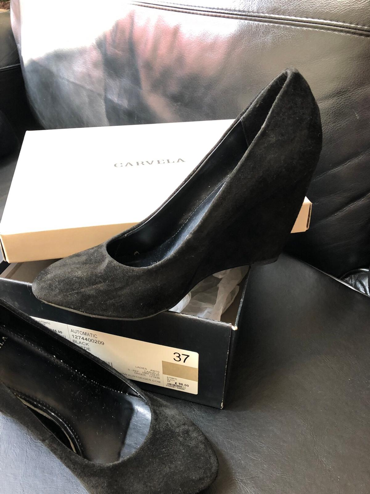 Carvela black court shoe.with wedge heel.worn only few times.excellent condition.size 4.or can pick up.